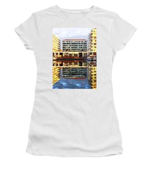 Marina Mazatlan Mirror Women's T-Shirt (Junior Cut) by Anne Mott