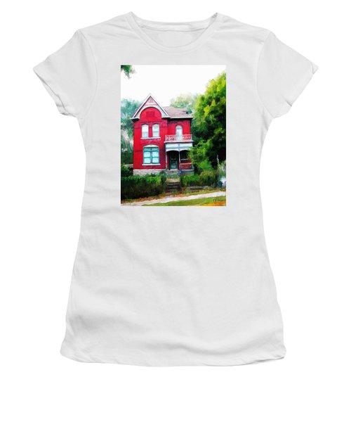 Market Street Women's T-Shirt (Junior Cut) by Dave Luebbert
