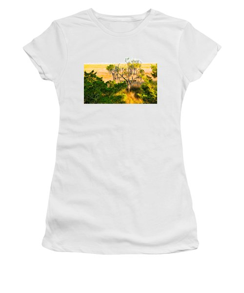 Marsh Cedar Tree And Moss Women's T-Shirt (Athletic Fit)