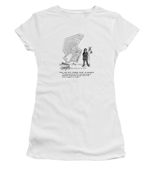 Mary One With Horror Show In Progress Placating Women's T-Shirt