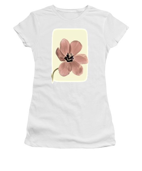 Mauve Tulip Transparency Women's T-Shirt (Athletic Fit)