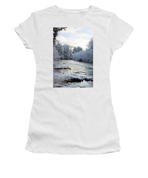 Mckenzie River Women's T-Shirt (Junior Cut) by Belinda Greb