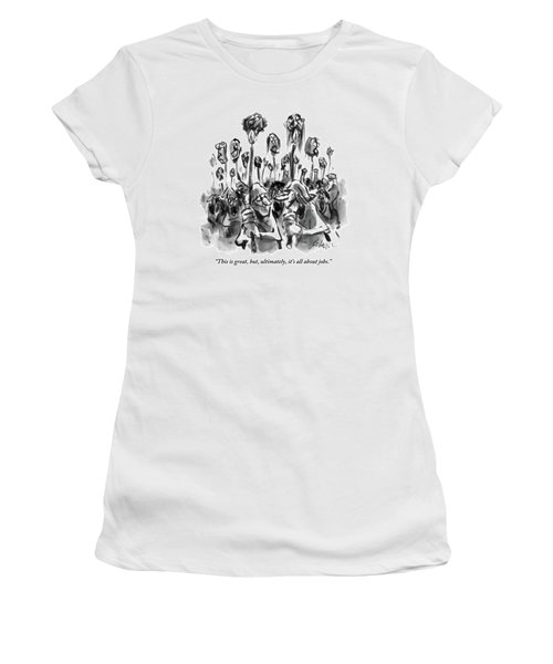 Medieval Rabble Rousers Mob Surrounding Heads Women's T-Shirt