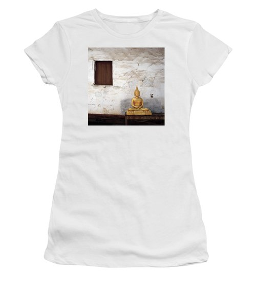 Meditation In Laos Women's T-Shirt