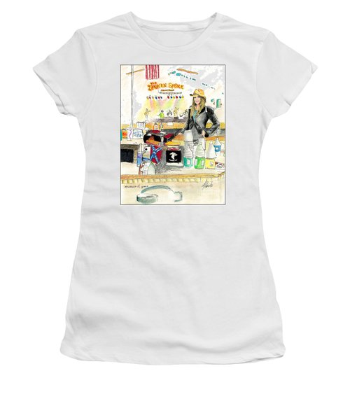 Meghan At The Broken Spoke Saloon Women's T-Shirt (Junior Cut) by Albert Puskaric