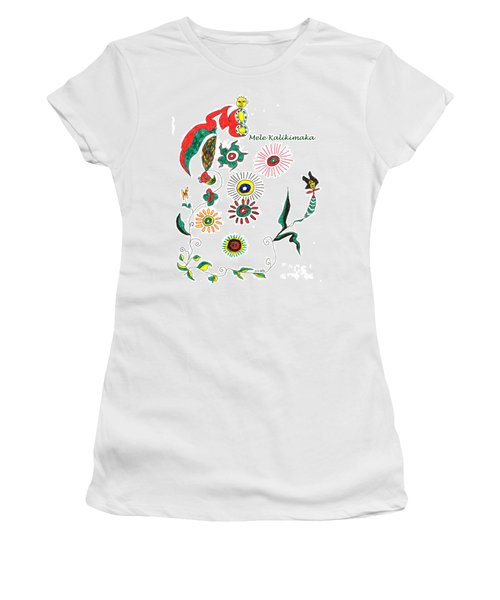 Women's T-Shirt (Junior Cut) featuring the drawing Mele Kalikimaka by Mukta Gupta