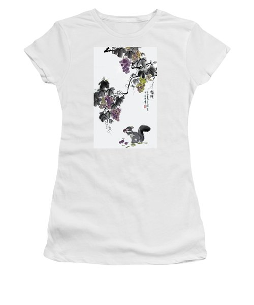 Melody Of Life II Women's T-Shirt (Junior Cut) by Yufeng Wang