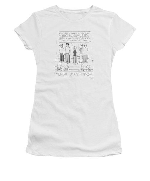 Mensa Does Improv Women's T-Shirt