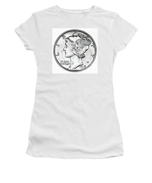 Mercury Women's T-Shirt (Junior Cut) by Fred Larucci