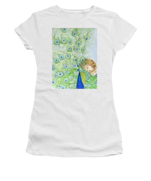 Mika And Peacock Women's T-Shirt (Athletic Fit)