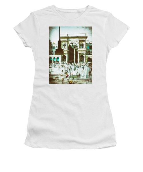 Women's T-Shirt (Junior Cut) featuring the photograph Milan Gallery by Silvia Ganora