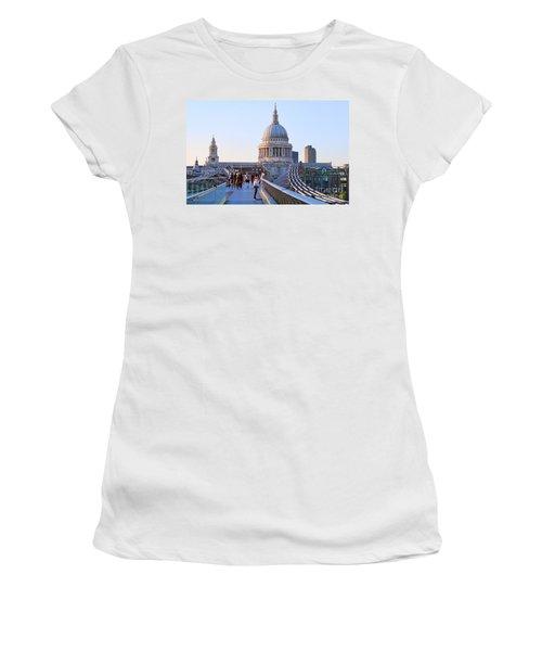 Millennium Bridge And St Pauls Cathedral 5403 Women's T-Shirt