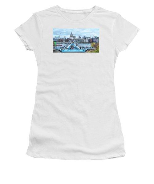 Millenium Bridge And St Pauls Cathedral Women's T-Shirt