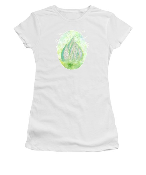 Mini Forest With Birds In Flight - Illustration Women's T-Shirt (Athletic Fit)