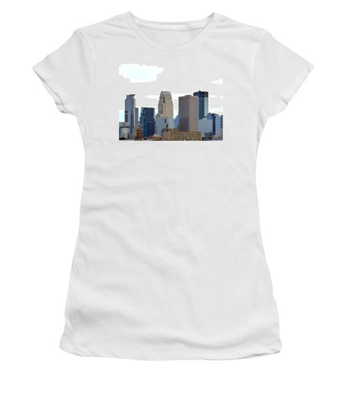 Women's T-Shirt (Athletic Fit) featuring the photograph Minneapolis by Will Borden