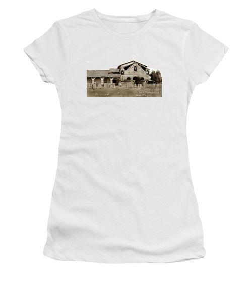 Mission San Antonio De Padua California Circa 1885 Women's T-Shirt (Athletic Fit)