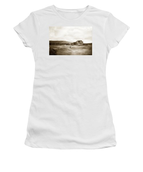 Mission San Juan Capistrano California Circa 1882 By C. E. Watkins Women's T-Shirt (Athletic Fit)