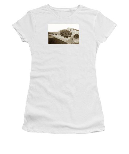 Mission San Luis Obispo De Tolosa California 1880  Women's T-Shirt (Junior Cut) by California Views Mr Pat Hathaway Archives