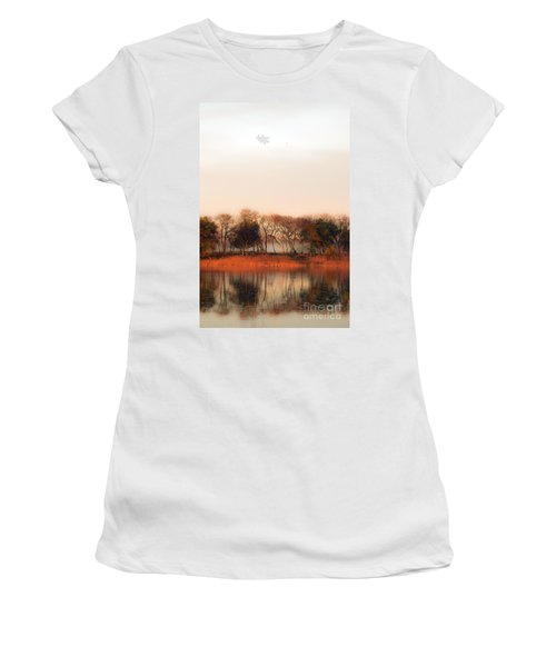 Misty Winter's Morning Women's T-Shirt (Athletic Fit)
