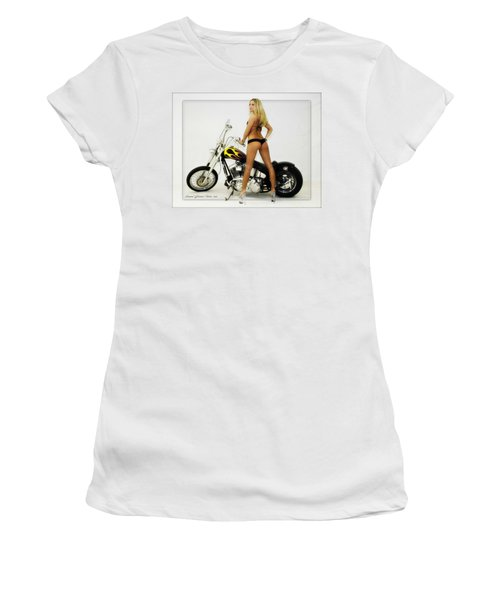 Models And Motorcycles_j Women's T-Shirt (Athletic Fit)