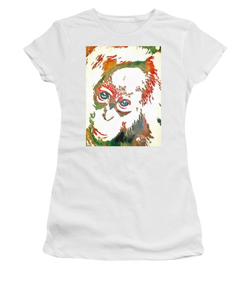 Monkey Pop Art Women's T-Shirt (Athletic Fit)