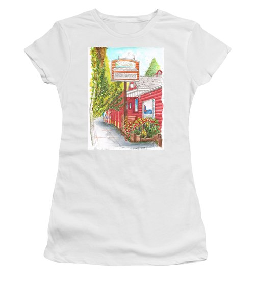 Mono Market Near Mono Lake In Lee Vining-california Women's T-Shirt (Athletic Fit)