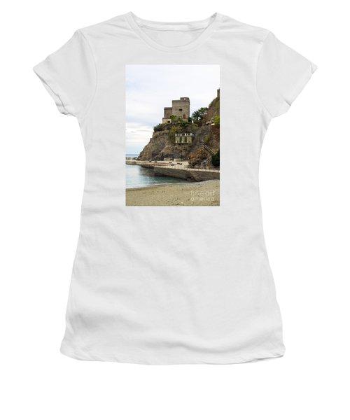 Monterosso Harbor Pier Women's T-Shirt