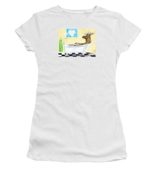 Moose Bath Women's T-Shirt (Athletic Fit)