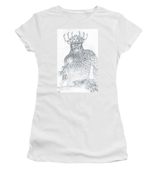 Women's T-Shirt (Junior Cut) featuring the drawing Morgoth And Fingolfin by Curtiss Shaffer