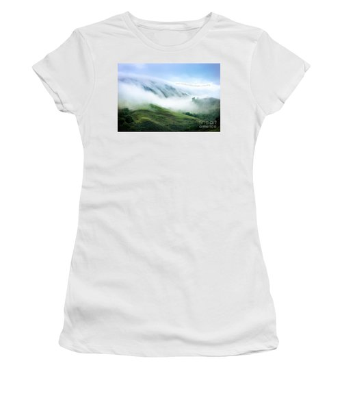 Morning Fog Women's T-Shirt (Junior Cut) by Ellen Cotton