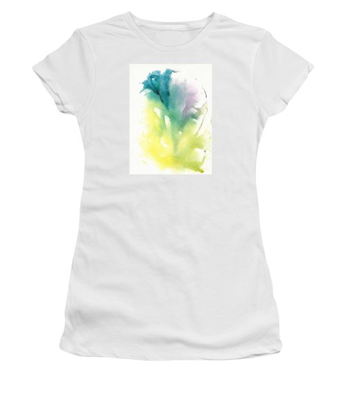 Women's T-Shirt (Junior Cut) featuring the painting Morning Glory Abstract by Frank Bright