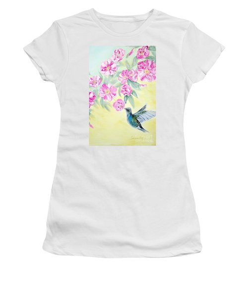 Morning In My Garden. Card Women's T-Shirt (Athletic Fit)