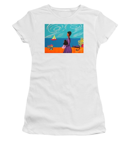 Mother And Daughter Women's T-Shirt (Junior Cut) by Anita Lewis