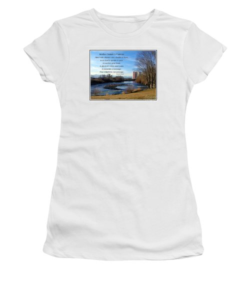 Women's T-Shirt (Junior Cut) featuring the photograph Mother Natures Canvas by Bobbee Rickard