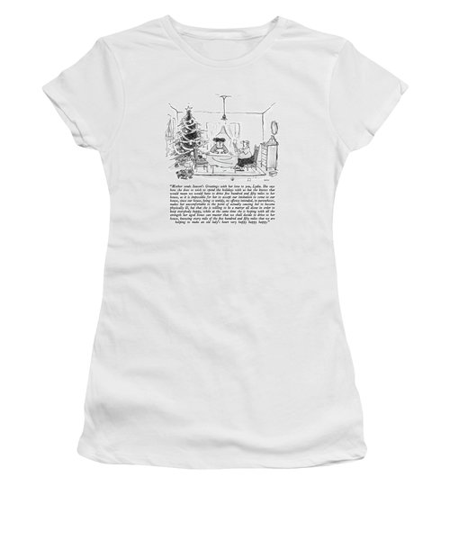 Mother Sends Season's Greetings With Her Love Women's T-Shirt