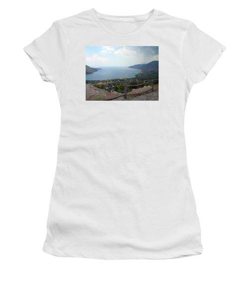 Mountain And Sea View In Greece Women's T-Shirt