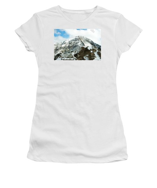 Mountain Covered With Snow Women's T-Shirt