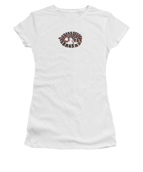 Mountain King Snake Women's T-Shirt (Junior Cut) by Cindy Hitchcock