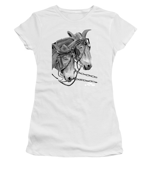 Mules - Beast Of Burden - B And W Women's T-Shirt