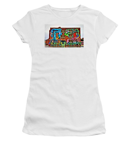 Mural On School Women's T-Shirt