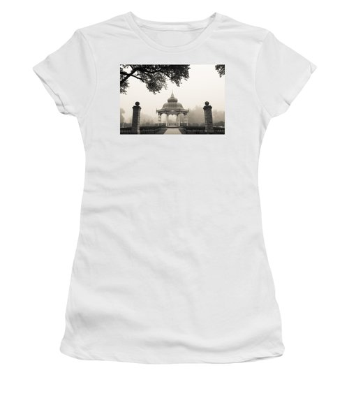 Music Stand In Fog Women's T-Shirt (Athletic Fit)