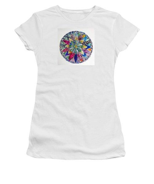 Spring Mandala Women's T-Shirt (Athletic Fit)
