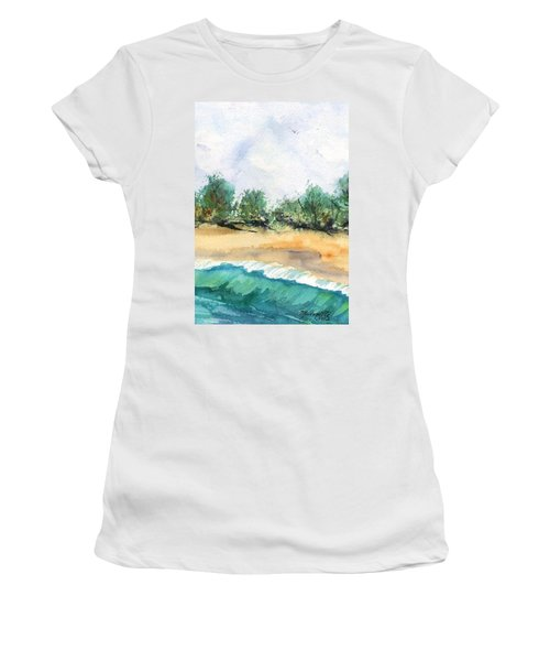 My Secret Beach Women's T-Shirt (Junior Cut) by Marionette Taboniar