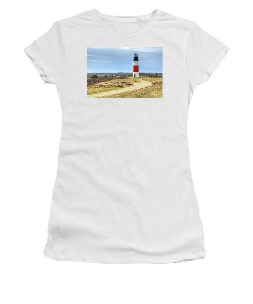 Nantucket's Sankaty Head Light Women's T-Shirt (Athletic Fit)