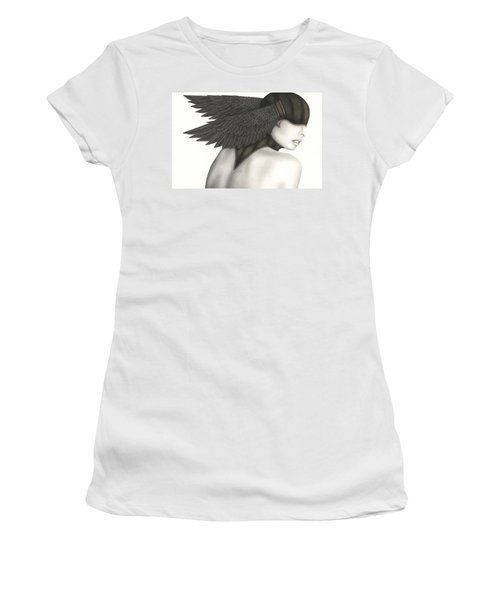 Women's T-Shirt (Junior Cut) featuring the painting Nevermore by Pat Erickson