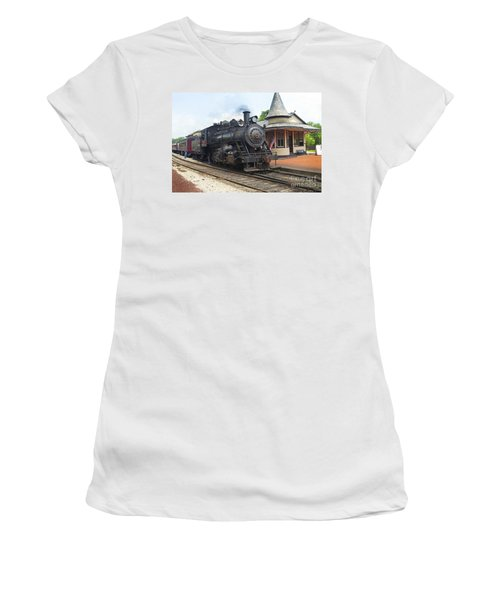 New Hope Station Women's T-Shirt (Junior Cut) by Paul W Faust -  Impressions of Light