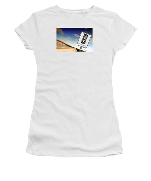 Women's T-Shirt (Junior Cut) featuring the photograph New Limits  by David Jackson