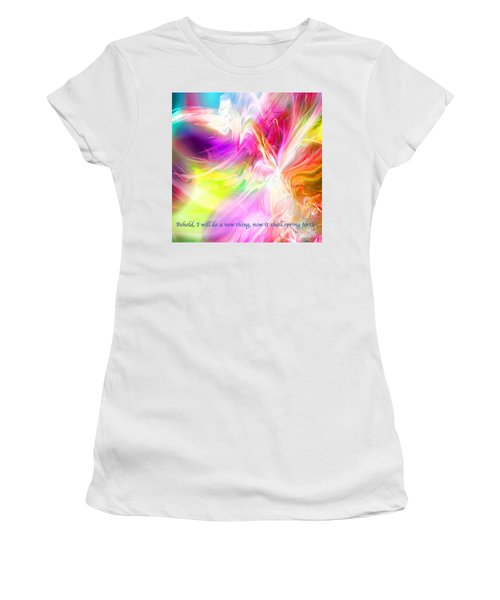 Women's T-Shirt (Junior Cut) featuring the digital art New Thing by Margie Chapman