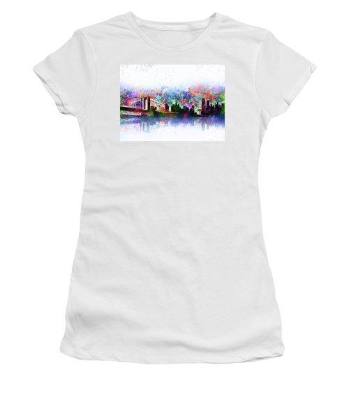 New York Skyline Splats 2 Women's T-Shirt