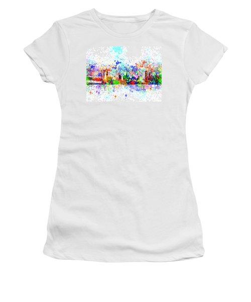 New York Skyline Splats Women's T-Shirt